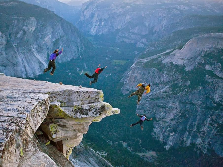 Base Jumping at Yosemite National Park