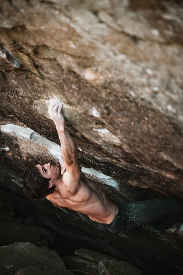 Ryan Sewell causing pain to geologic formations. Photo by our own Fidi!